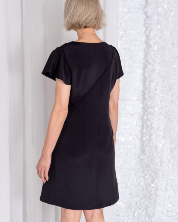Kleid Cleo schwarz mit Schmetterlingsärmel