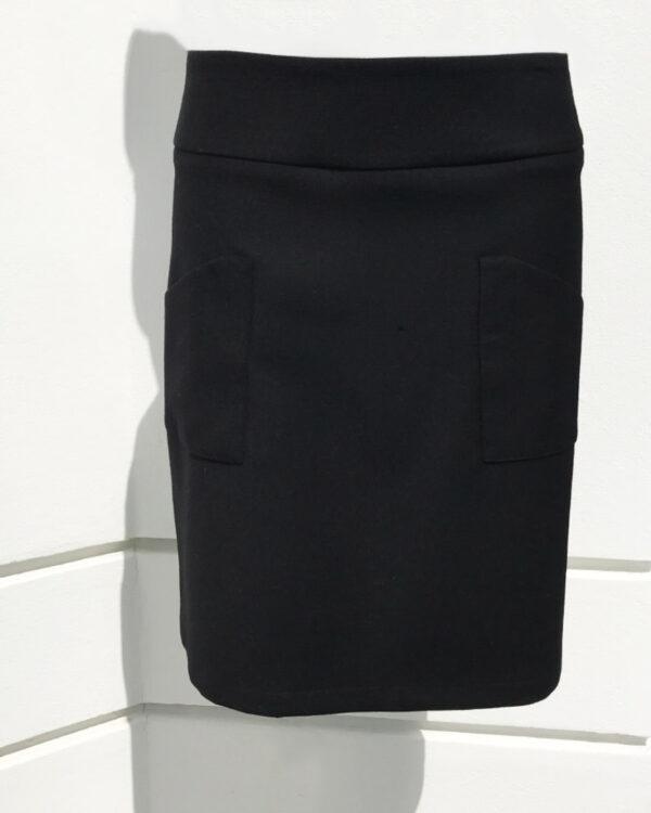 Rock LEA schwarz mit Taschen